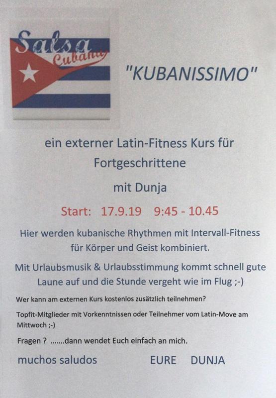 """Werbeplakat """"Neuer Salsa Kurs"""""""
