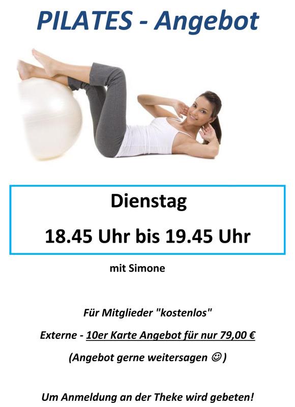 Plakat Pilates Angebot
