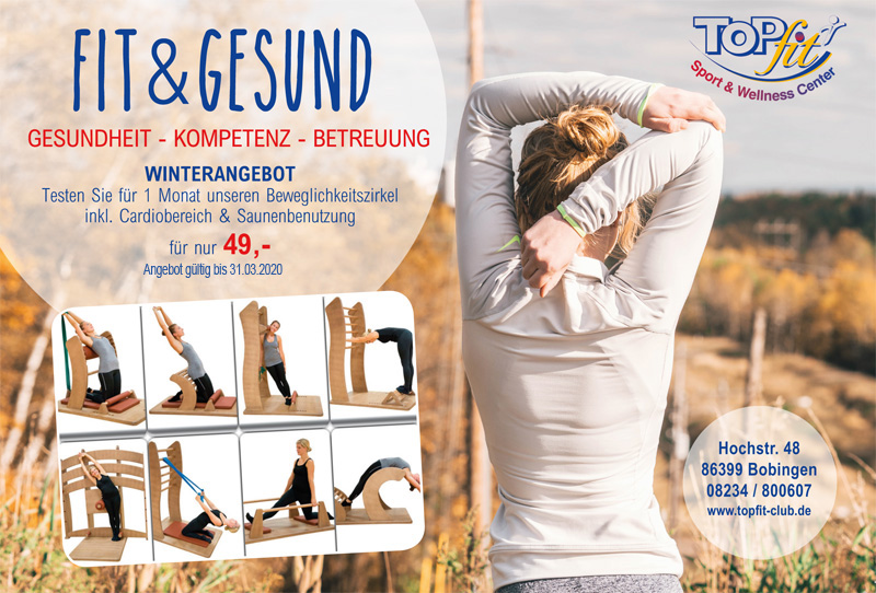Flyer Fit & Gesund Winterangebot