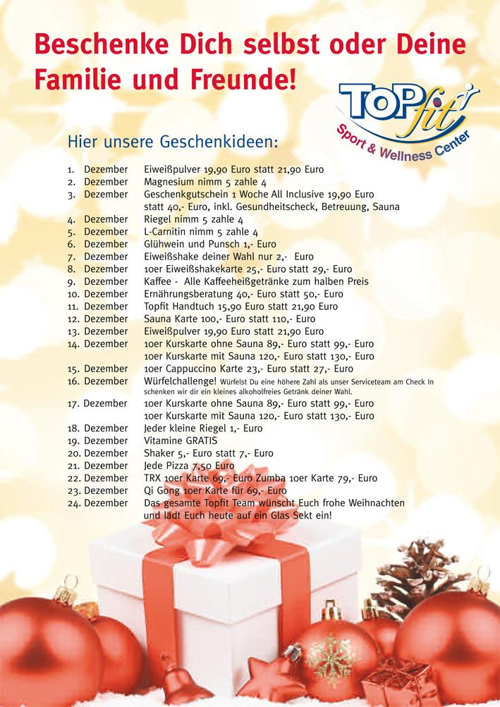 Adventskalender mit Geschenkideen
