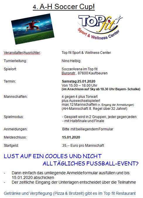 4. AH Soccer Turnier Einladungsbeschreibung