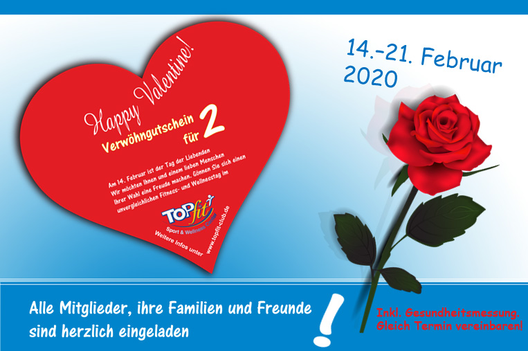 Gutscheinkarte zum Valentinstag