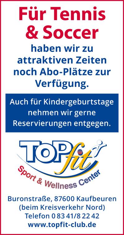 Flyer für Tennis & Soccer Abo Plätze
